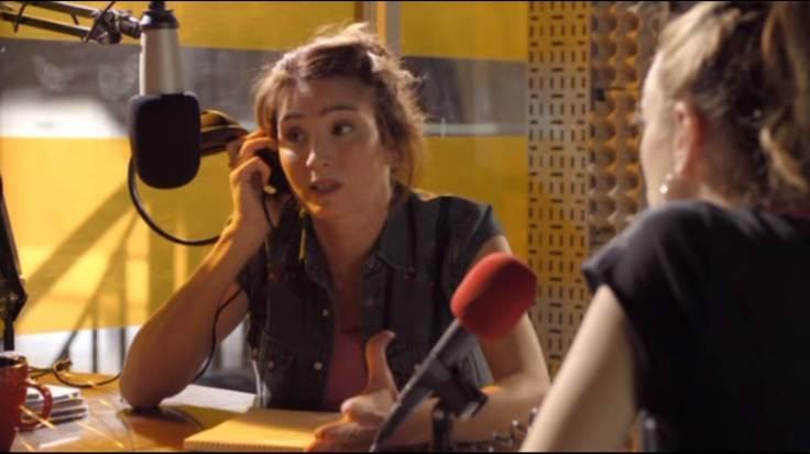 Tana en la radio