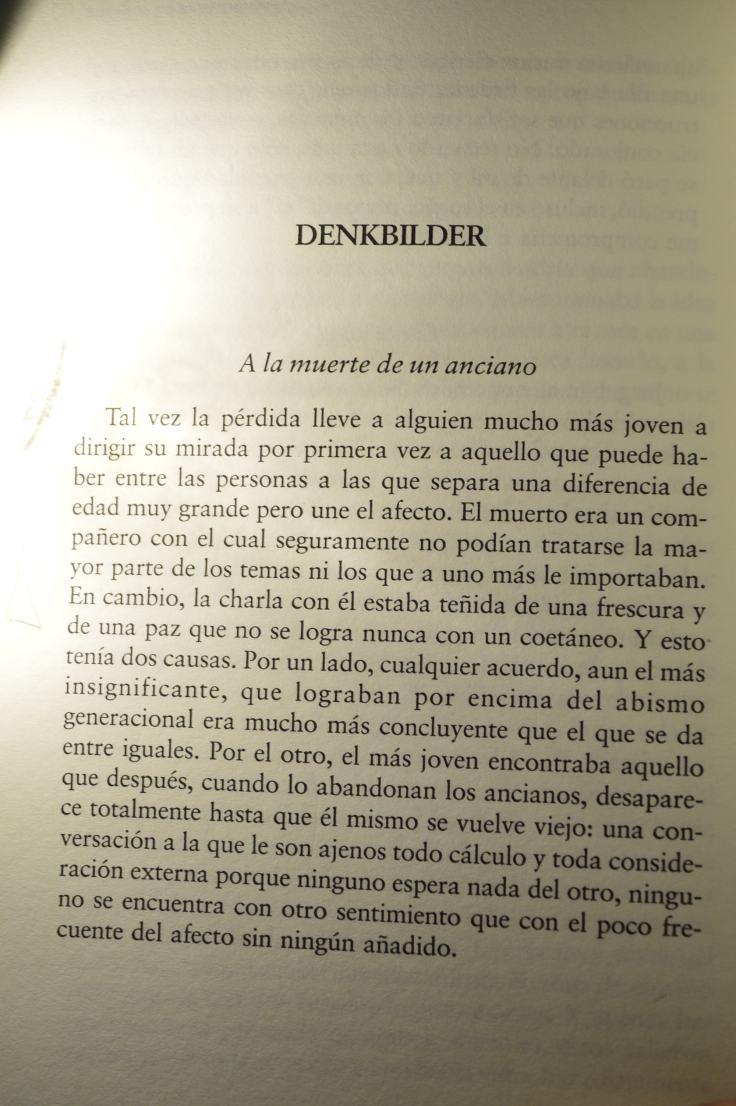 """""""A la muerte de un anciano"""" de Walter Benjamin (Denkbilder)."""