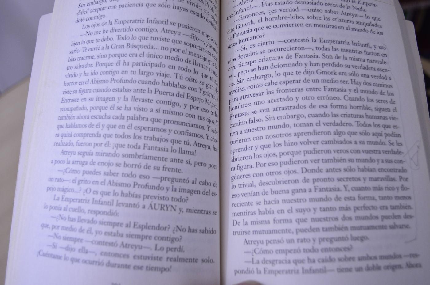 """Fragmento de """"La historia interminable"""" de Michael Ende."""