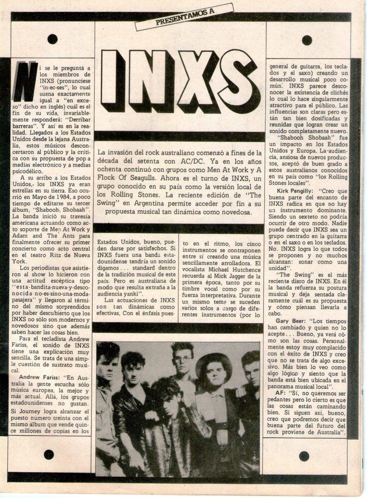 Revista Pelo INXS